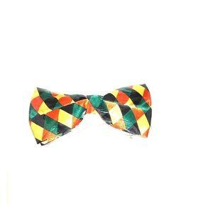 Other - Fashion Bow tie. Orange Yellow Geo Pattern
